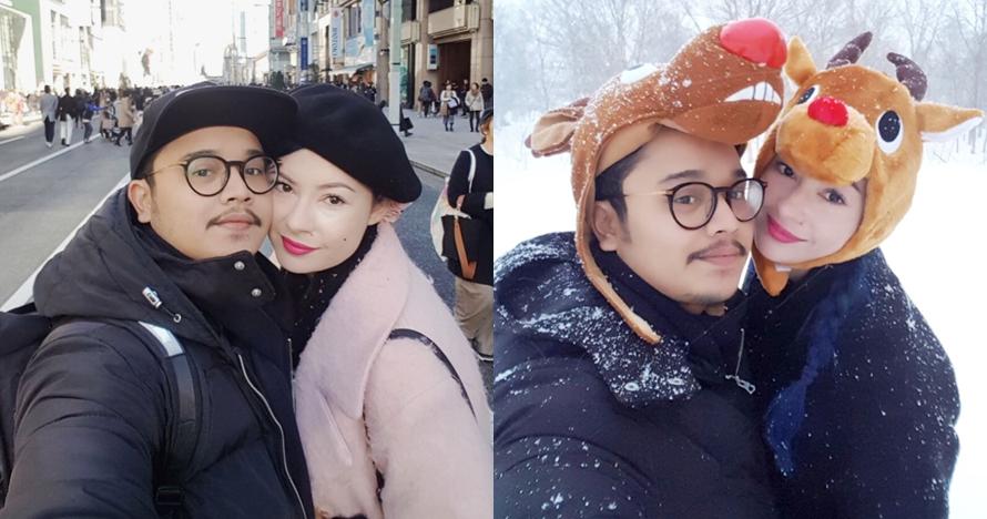 10 Momen liburan Derby Romero & istri di Jepang, jadi Natal pertama
