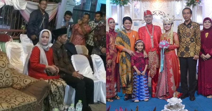 3 Pernikahan orang biasa ini dihadiri Presiden Jokowi & Ibu Negara