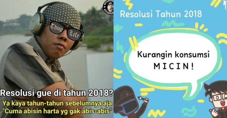 10 Meme Resolusi Tahun 2018 Yang Paling Gokil Abis