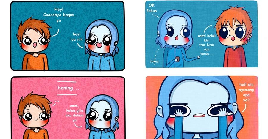 5 Ilustrasi momen awkward ketika bertemu gebetan