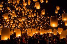 2.500 Lampion warnai pergantian tahun di Borobudur