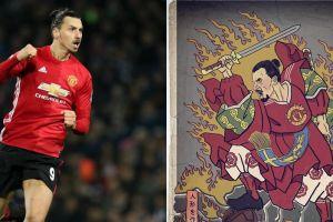 Ilustrasi 4 bintang sepak bola saat jadi pendekar samurai, keren abis