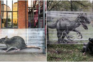 Bermodal plastik dan cat semprot, 10 karya grafiti ini bikin terkesima