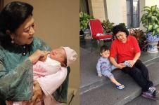 4 Gaya Ani Yudhoyono saat mengasuh cucu, cerminan nenek penyayang