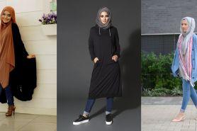 10 Gaya terbaru padu padan hijab kasual & celana jeans hits di 2018