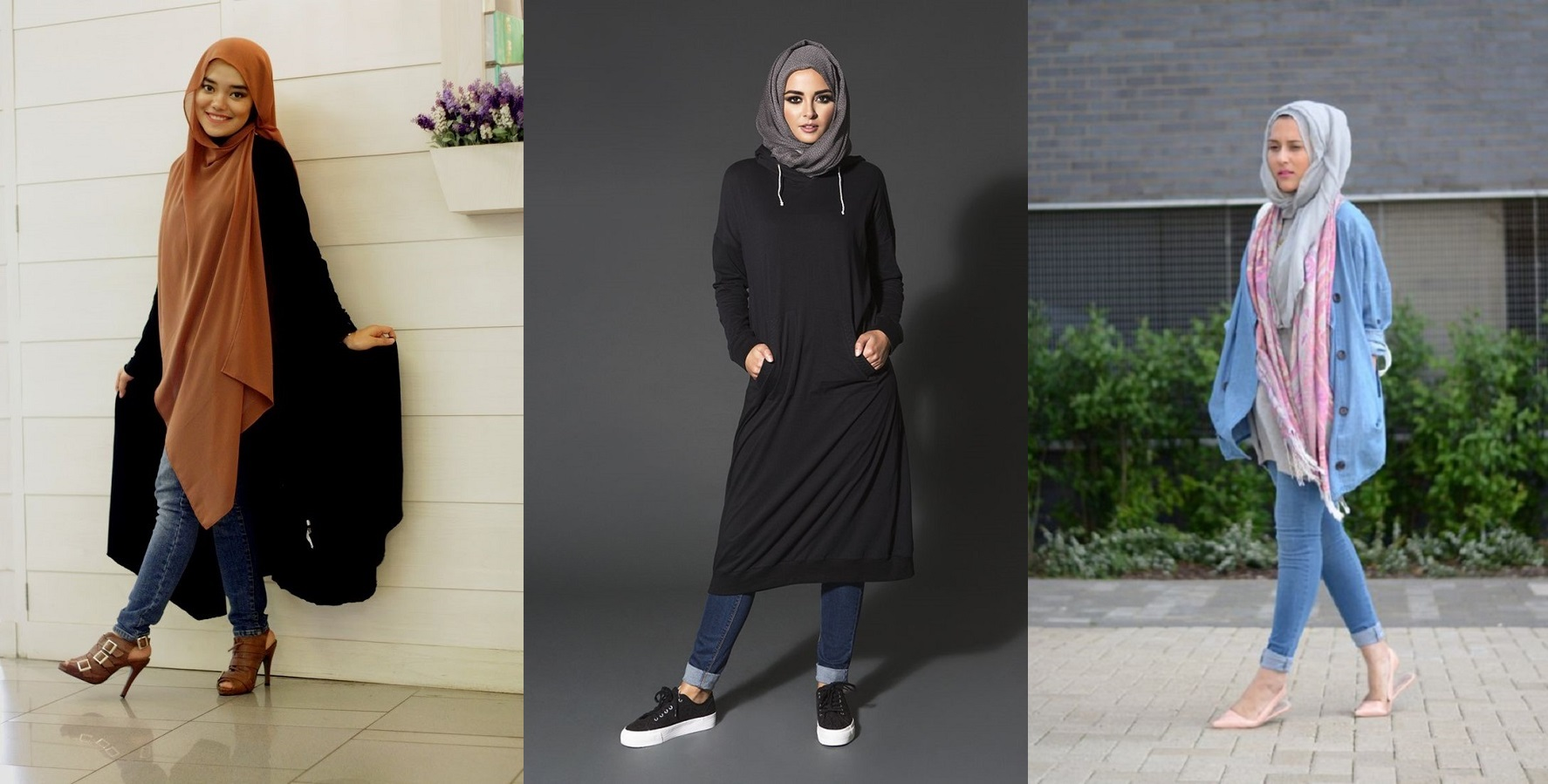 10 Gaya Terbaru Padu Padan Hijab Kasual Celana Jeans Hi