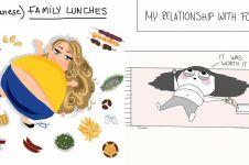 10 Ilustrasi ini buktikan cewek yang doyan makan hidupnya bahagia