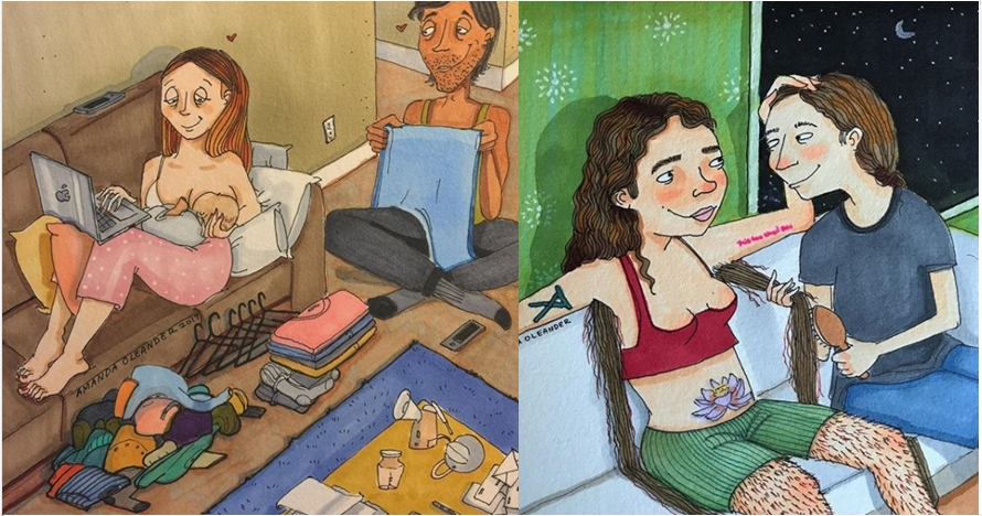 14 Ilustrasi kebahagiaan pasangan ini bukti cinta tak butuh syarat