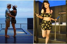 10 Gaya Dewi Perssik saat bulan madu ke Maldives ini bikin gagal fokus