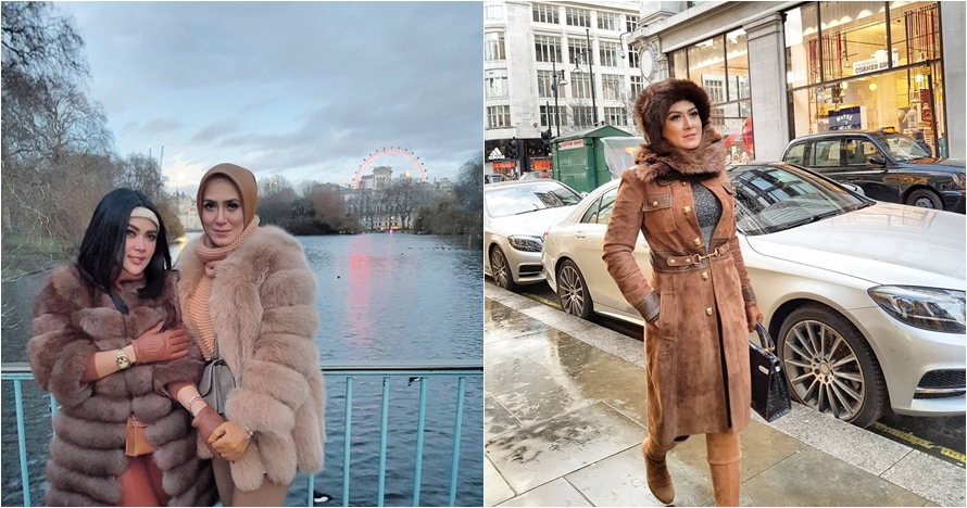 10 Gaya glamor Vie Shantie, sosialita hijaber sahabat karib Syahrini