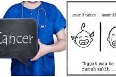 10 Ilustrasi ketabahan cewek pengidap kanker ini bikin haru