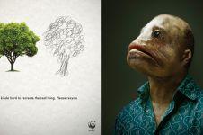 10 Kampanye kreatif tentang lingkungan ini ngena banget pesannya