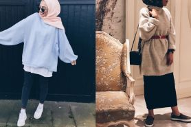 5 Style mix and match oversized sweater buat para hijabers