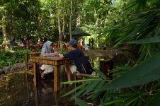 Rasakan sensasi berwisata di taman hutan Lampung, makan di sungai