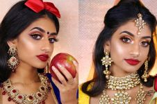 Cewek India ini ubah dirinya jadi 8 putri Disney, ini potretnya