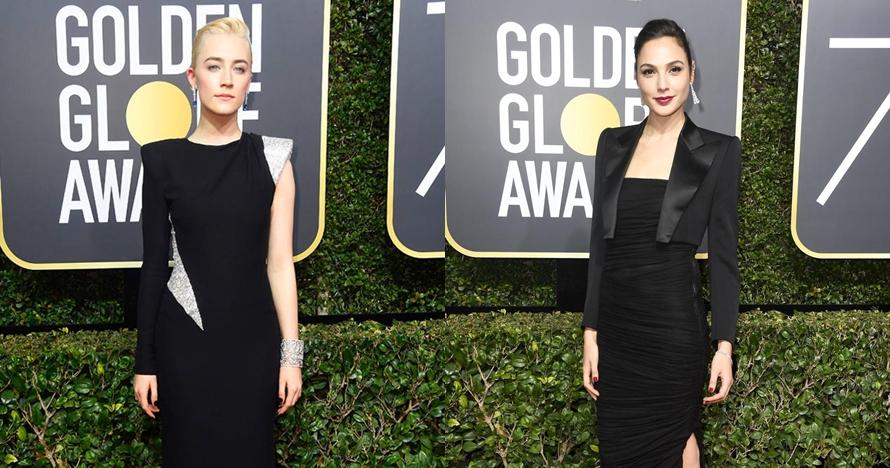 10 Seleb Hollywood ini kenakan gaun hitam di Golden Globe Award 2018