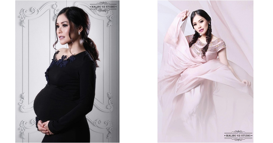 10 Foto maternity Metha Yunitria istri Uki Noah, cantiknya elegan