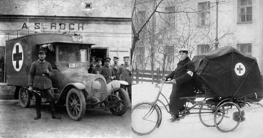 15 Foto jadul mobil ambulans 100 tahun lalu, bentuknya nggak disangka