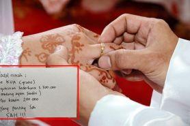 Siapa bilang nikah mahal? Ini tips modal menikah cuma Rp 600 ribu