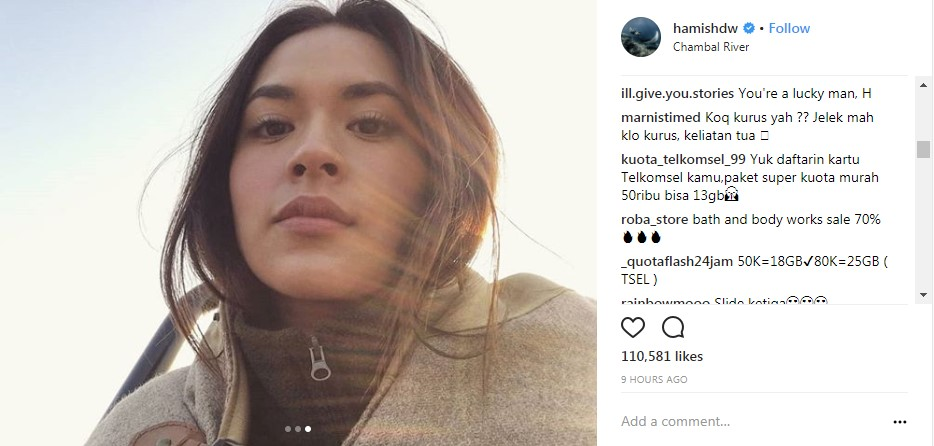 Raisa Dibilang Jelek  © 2018 Instagram
