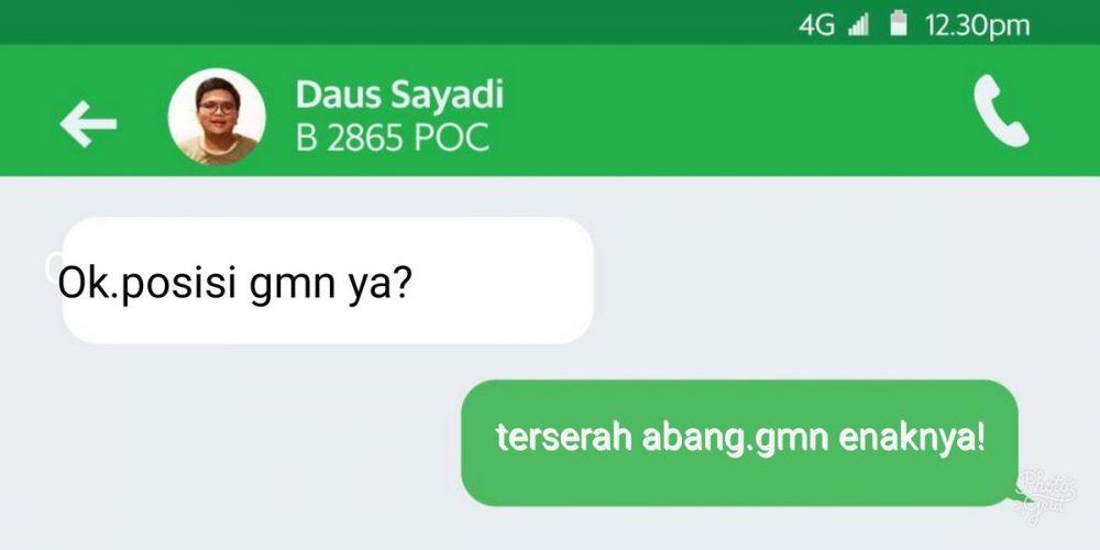 Chat Dengan Driver  © 2018 Twitter