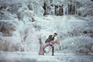 Ekstrem, pasangan ini lakukan prewedding di lokasi -3 derajat celcius
