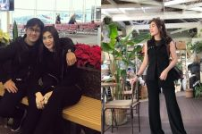 10 Gaya istri Andre Taulany dengan outfit serba hitam, simpel berkelas