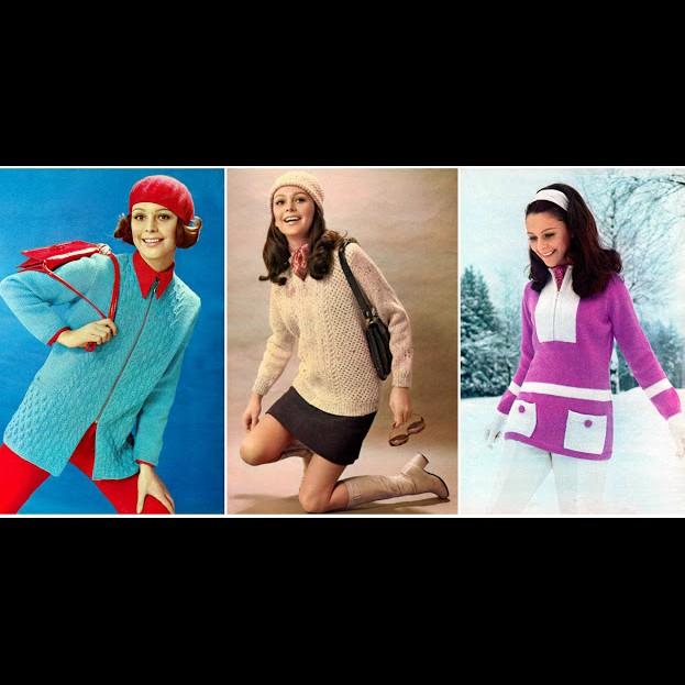 14 Model sweter cewek era 70-an yang cocok banget buat OOTD, kece abis