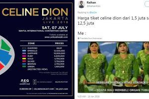11 Postingan tentang harga tiket konser Celine Dion ini bikin ngakak