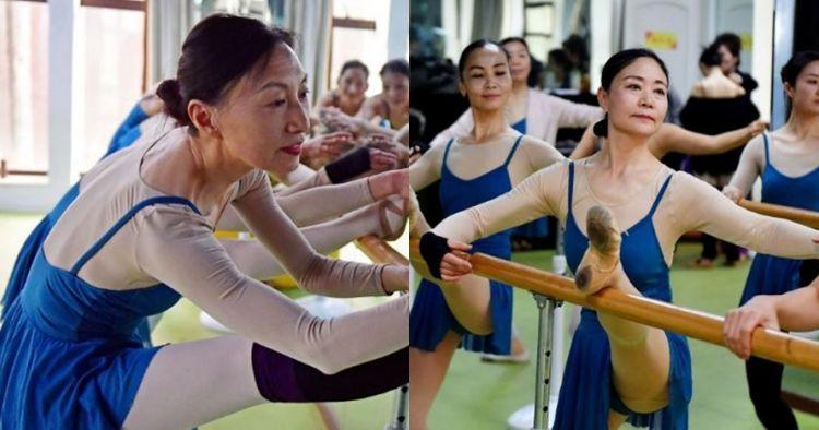 10 Gaya gemulai nenek-nenek menari balet, lentur banget tubuhnya
