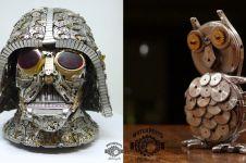 10 Patung unik ini hanya dibuat dari kumpulan jam tangan bekas, wow!