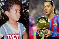 Gantung sepatu, ini 15 potret perubahan Ronaldinho sejak kecil