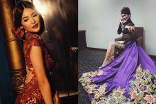 7 Pesona Maria Selena dalam balutan kebaya, cantiknya buat nggak kedip