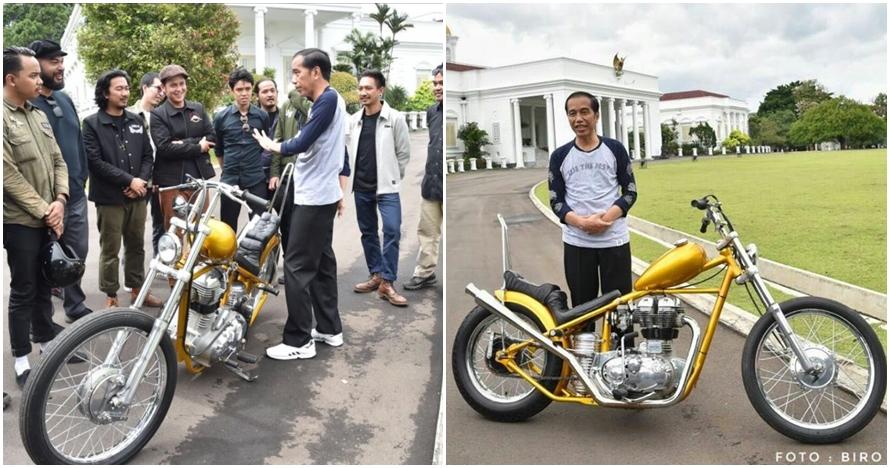 Jokowi beli sepeda motor rancangan anak bangsa, modelnya kekinian abis