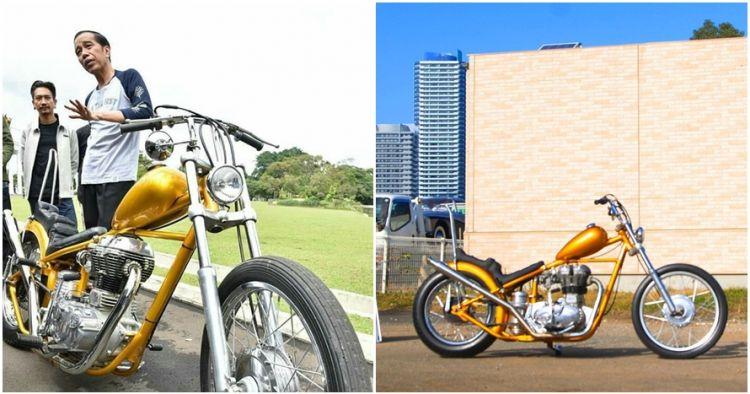 10 Potret sepeda motor Chopper baru Jokowi, harganya Rp 140 juta