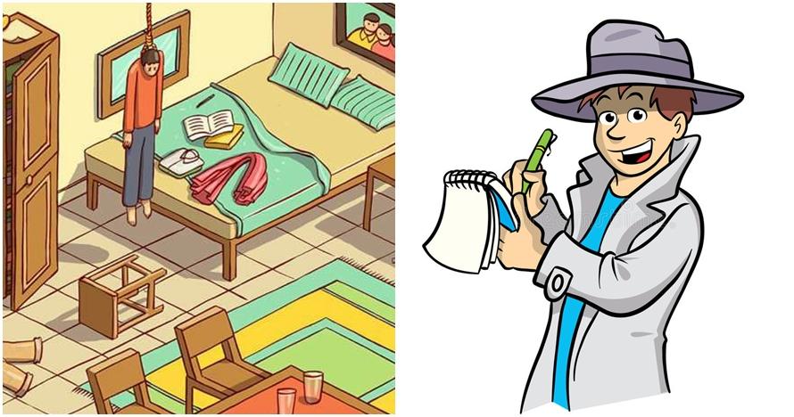 Tes bakat detektif kamu, tebak ini kasus pembunuhan atau bunuh diri?