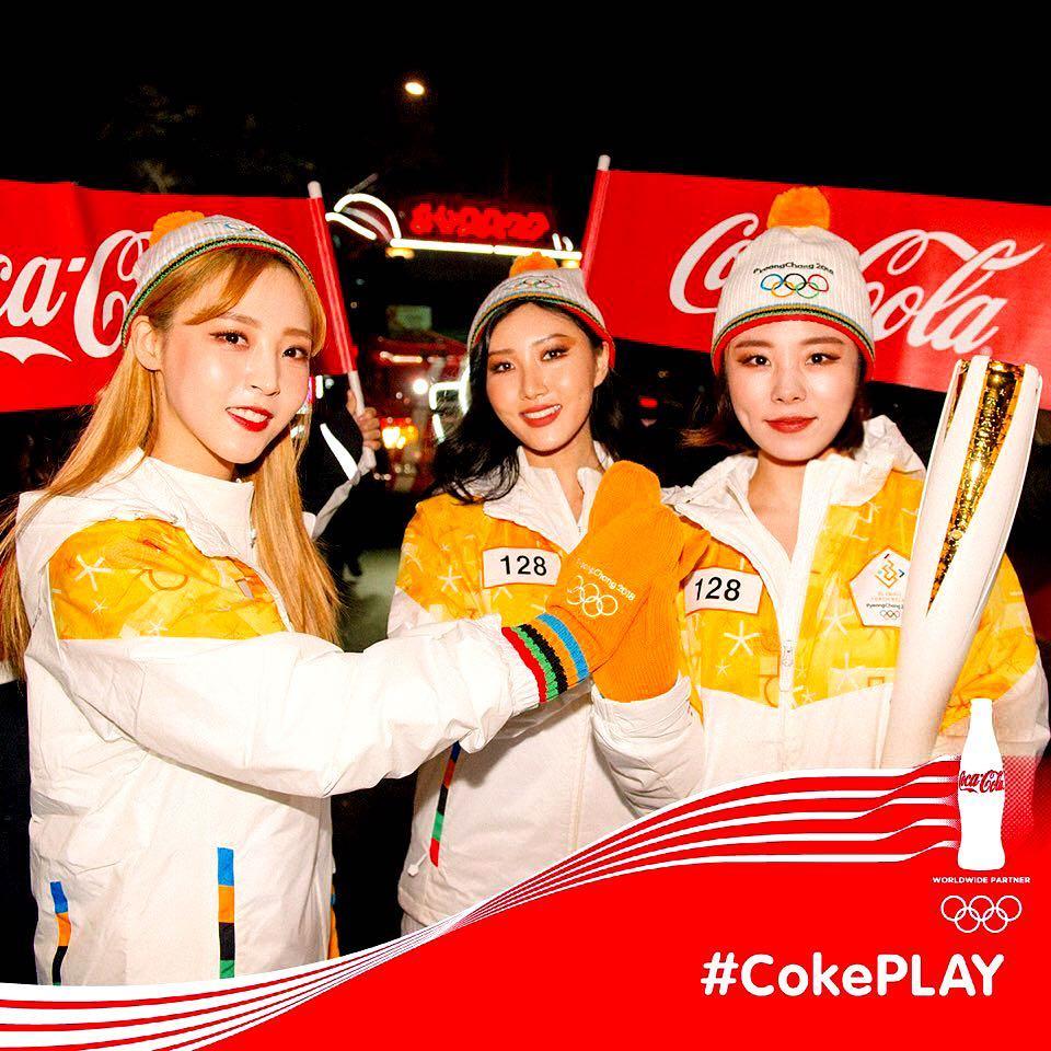 Image result for Dari AOA, ada tiga personelnya yang didapuk untuk membawa obor olimpiade yakni, Chanmi, Seolhyun, dan Jimin.