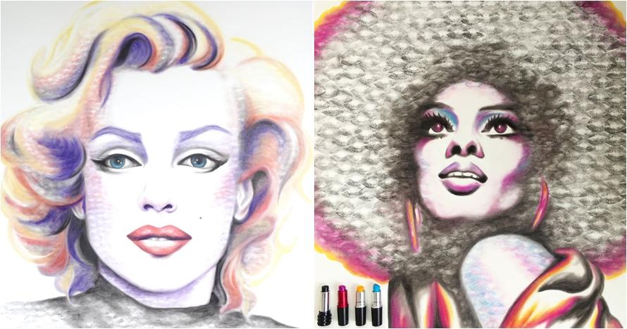 Dengan ciuman & lipstik, 10 lukisan ini bikin cowok mau jadi kanvasnya