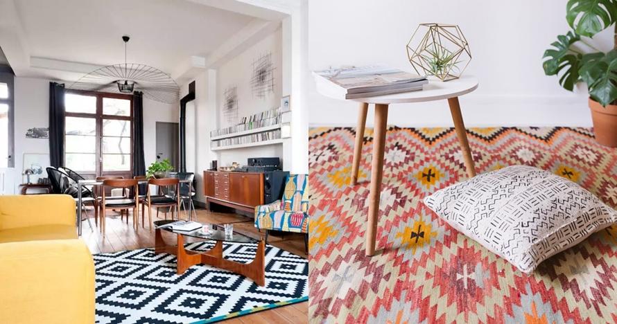 10 Motif karpet rumah ini bikin hunianmu nggak biasa, makin nyaman