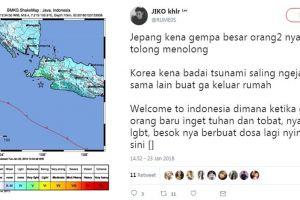 Gempa 6,1 SR guncang Jakarta, warganet malah ribut kaitkan soal LGBT