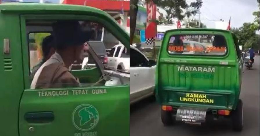 Tanpa bahan bakar, mobil ramah lingkungan di Mataram ini bikin nyengir