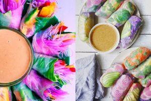 7 Kreasi lumpia transparan penuh warna, bikin kamu nggak tega makan