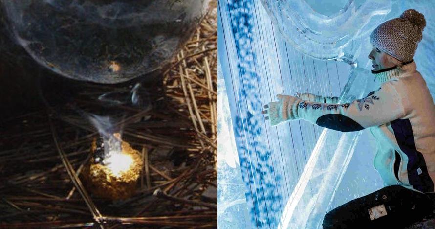 10 Kegunaan tak terduga es dan salju, salah satunya dipakai bikin api
