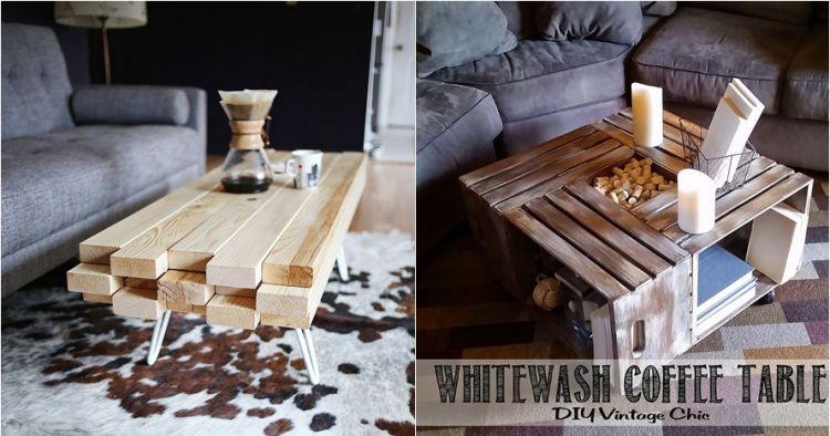 12 Desain meja ruang tamu DIY kekinian, bikin betah ngopi atau ngeteh