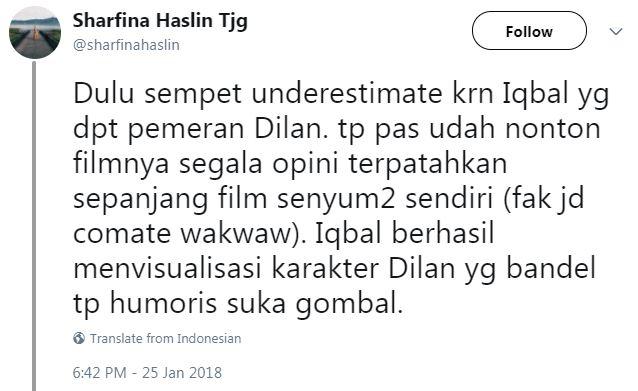 10 Komentar warganet ini bukti film Dilan 1990 di luar ...