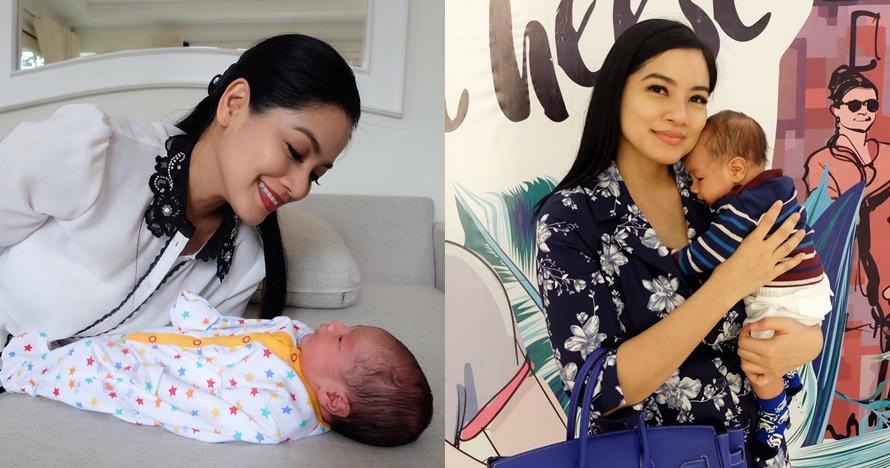 5 Gaya Titi Kamal momong Baby Kai, aura keibuannya terpancar