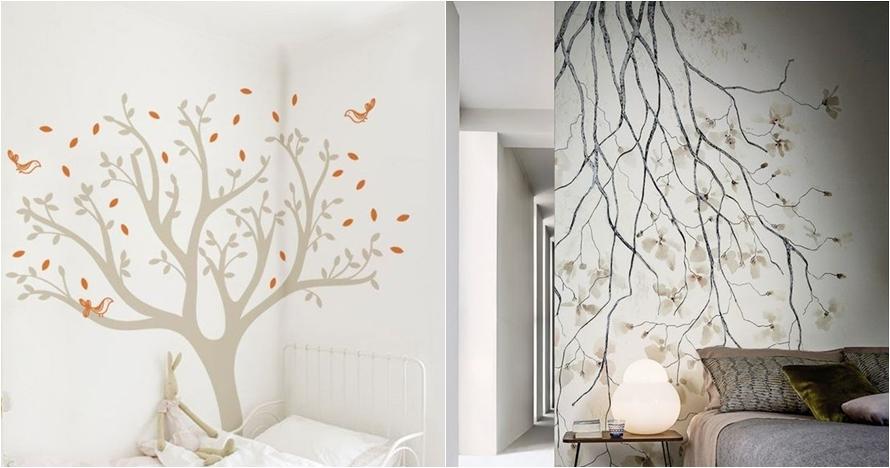 10 Desain Mural Dinding Bertema Pohon Ini Bikin Kamarmu Makin Asy