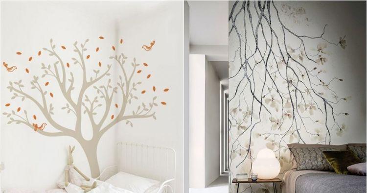 10 Desain Mural Dinding Bertema Pohon Ini Bikin Kamarmu