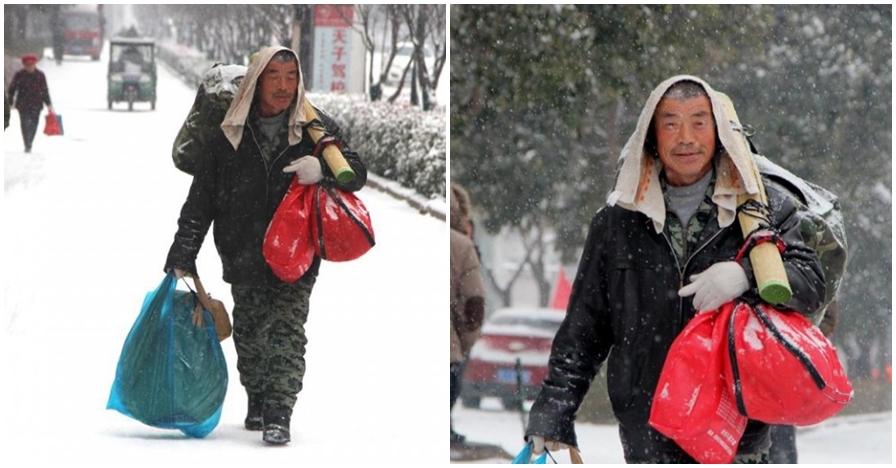 Demi belikan kado istri, suami ini rela jalan kaki 40 km lintasi badai