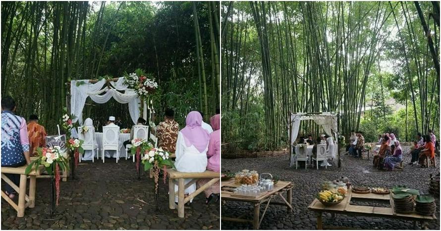 Pernikahan Outdoor Ini Unik Banget Digelar Di Kebun Bambu